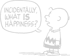 Incidentally what IS Happiness