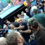 hugging the tar piss out of Erik Ireland